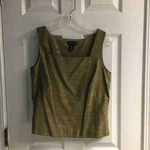 Ann Taylor Olive/Brown Shell